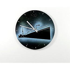Uhr Wanduhr East Side Galery Vinyluhr Schallplattenuhr