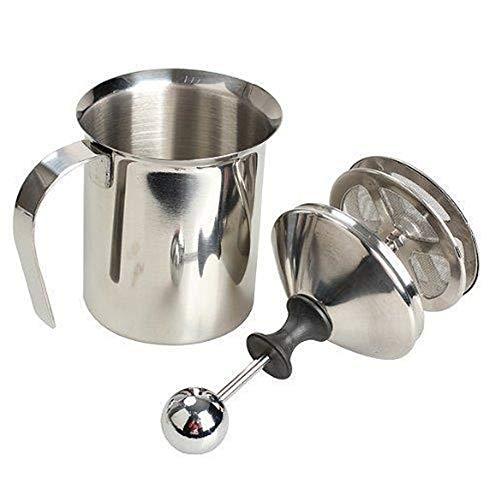 Montalatte, Gfeu 400ml manuale in acciaio INOX a doppia maglia Creamer schiuma di latte per Cappuccions caffè latte