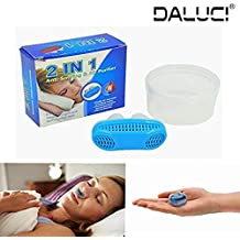 DALUCI 2 IN 1 Anti Snoring & Air Purifier Nose Clip Breathe Easy Care Relieve Snoring Air Purifying Respirator Stop Snoring Solution