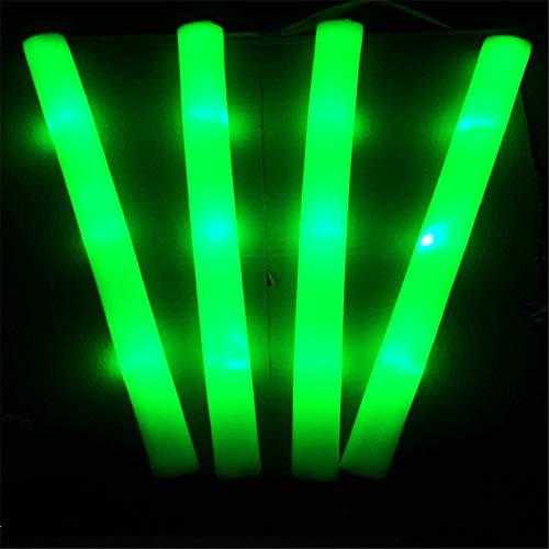 Lfives-hm Leuchtstab 10 stücke Leuchten Multi Farbe LED Schaum Stick Stäbe Rally Rave Jubeln Schlagstöcken Partei Blitzen Knicklicht Licht Sticks-Random Farbe für Glow Party Supplies (Farbe : Grün)