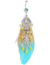 Boho Chic Chandelier Feather Belly Ring
