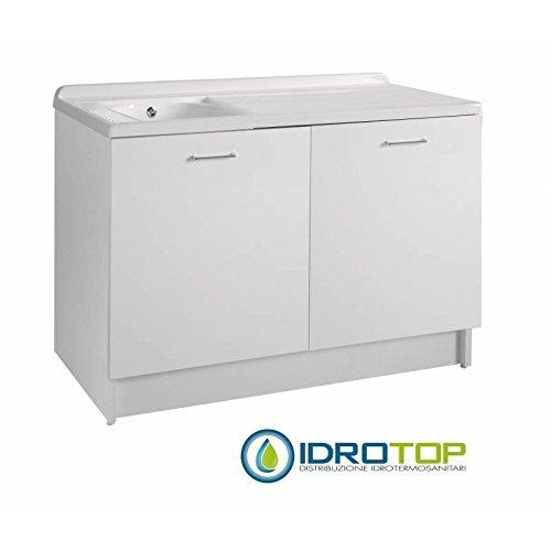 Waschbrett portalavatrice Active Wash Schale SX 130x 65mit Absaugung Lüftungsgitter, Pumpe Wasser, Sensor, Display elektronisch weiß - Mobile Absaugung