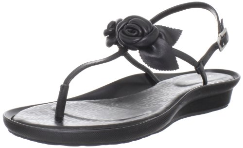 Rockport Dailana Flower K6110, Sandali donna Nero (Schwarz (BLACK))