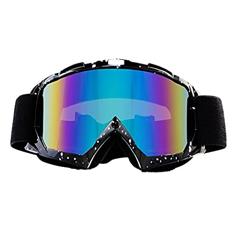 4-FQ Adjustable UV Protection Motocross Outdoor Sports Ski Glasses Snowmobile