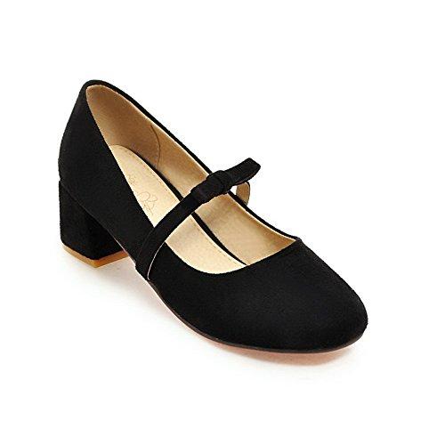 Balamasaapl10191 - Sandales Compensées Pour Femmes, Noir