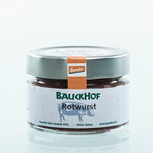 Bauckhof Fleischerei Bio Rotwurst im Glas (6 x 100 gr)