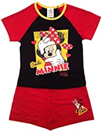 New Kids Girls Childrens Official Disney Minnie Mouse Micky Mouse Clubhouse Short Pyjamas Pj's Set