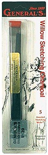 Holzkohle Skizzieren Bleistifte (Allgemeine Bleistift Weiden Skizzieren Holzkohle-Sticks, mehrfarbig, 2,28x 7.23X