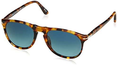 Persol Herren 0PO9649S Sonnenbrille, Braun (Madreperla/Bluedarkbluepolar), 52