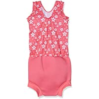 Splash About Girls' Happy Nappy Costume - Pattern Pink Blossom, XX-Large