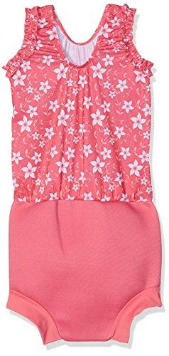 Splash About Babys Mädchen Happy Nappy Kostüm–Muster Pink Blossom, 2x große/24Monate