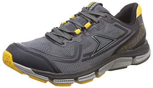 Power Men's Plazma3 Venom D.Grey and Yellow Running Shoes-8 UK (42 EU) (8082188)