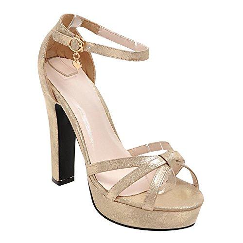 MissSaSa Donna Sandali col Tacco Alto Elegante e Fashion Oro