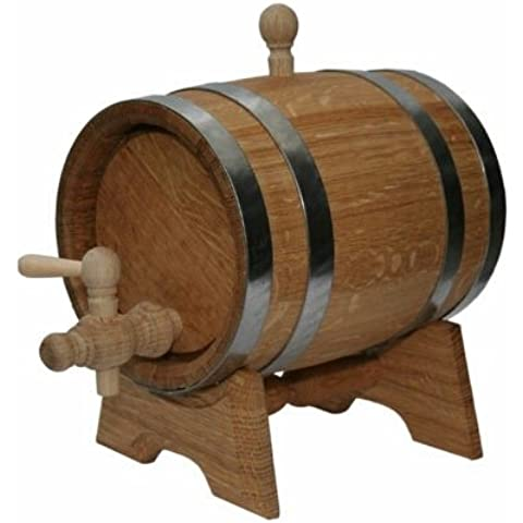 Botte rovere 3L barile di legno per la conservazione o Aging vino e alcolici