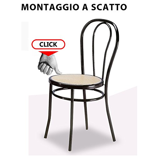 Ricambio sedia thonet in metallo bistrot facilcasa seduta for Sedie cucina metallo