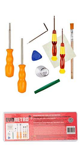 Triwing Profi-Schraubendreher-Reparatur-Set für Nintendo/Wii/NES/N64/DS Lite/GBA/Gamecube von EVORETRO - Nintendo-ds-tool-kit