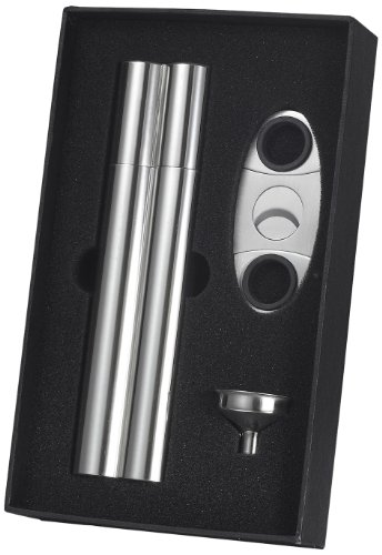 visol-paramount-cigar-case-flask-combo-gift-set-with-cigar-cutter-and-funnel