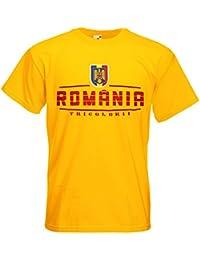Rumänien România Fanshirt T-Shirt Länder-Shirt im modernen Look