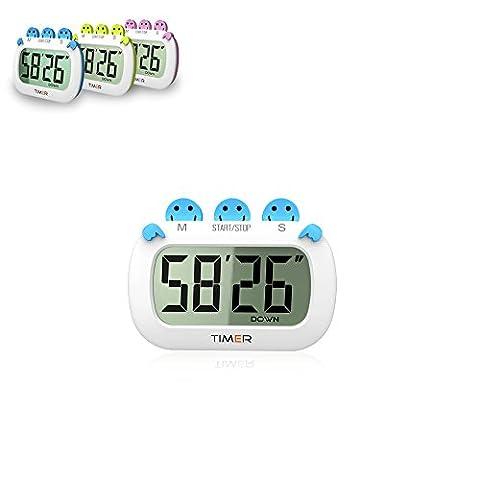 zqmd Digital Multifunktional Timer, Küchentimer, Timer mit Premium magnetischer Rückseite für Kochen, Backen und mehr (lauter Alarm, Countdown)