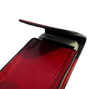 i-KitPit Genuine Leather Pouch Case With Magnet For Karbonn S4 Titanium (RED)