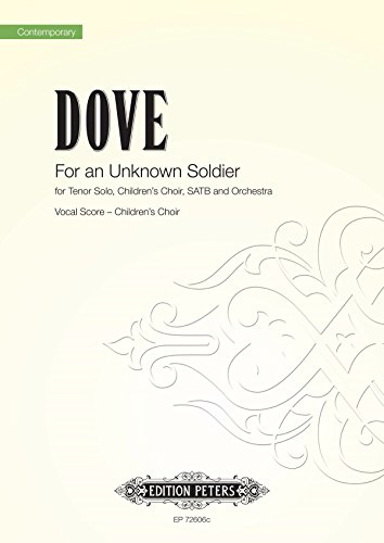 FOR AN UNKNOWN SOLDIER CHILDRENS VOCAL S