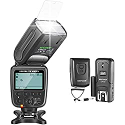 Neewer NW-561 GN38 Manuel LCD Display Speedlite Flash Kit pour Canon Nikon et autres appareils photo reflex numériques, Comprend: NW561 Flash, CT-16 Wireless Trigger, Microfiber Cleaning Cloth