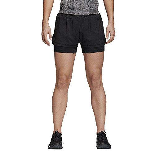 adidas Damen Two-in-One Shorts, Black, M