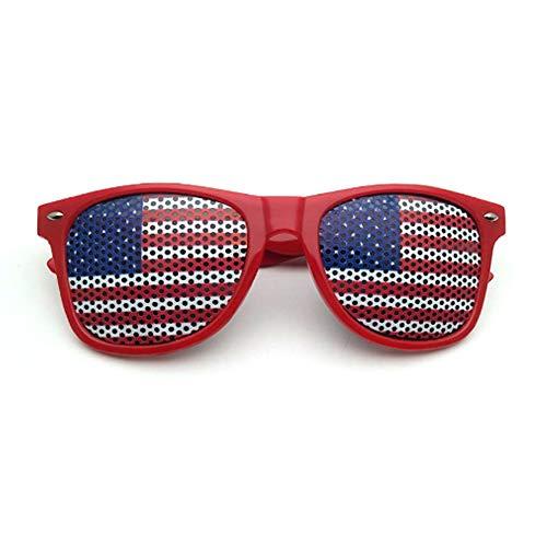 Festnight Flagge patriotischen Design Lastics Shutter Brille Shades Sonnenbrille für Independence Day Party Dekoration