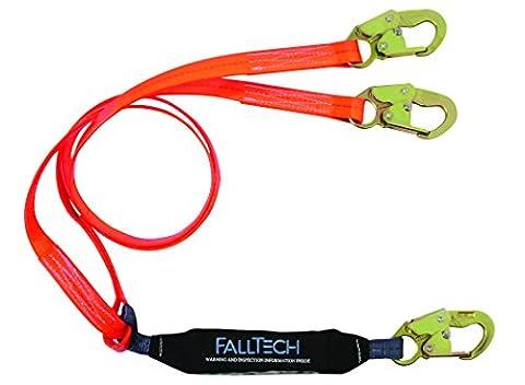 FallTech 82608pc ViewPack, Urethan beschichtet Web SAL–y-leg für 100% tie-off, 3Haken, 6', orange