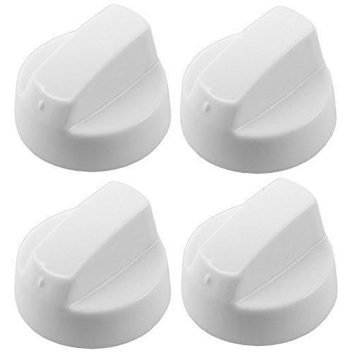 Foto de Spares2go Universal blanco mando de control para todas las marcas y modelos de hornos y fuegos (paquete de 1,2,4,6 or 8 + adaptadores) Pack Quantity: 4