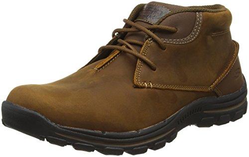 Skechers Men's Braver-Horatio Chukka Boots, Brown, 9.5 UK