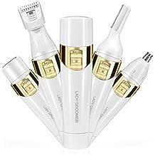 4 en 1 removedor de pelo indoloro de las mujeres Bestidy Profesional Damas Cabello Shaver Kit de dispositivo de afeitadora eléctrica - ceja Shaping Body Shaver raspador de nariz Facial Shaver