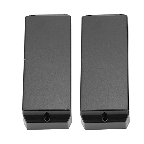 Alomejor 2Pcs 3 Holes Closed Type Humbucker Pickup Cover for 5 String Electric Bass - Electric Bass 5-string