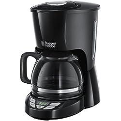 Russell Hobbs 22620-56 Machine à Café, Cafetière Filtre 1,25L Texture, Grande Capacité - Noir