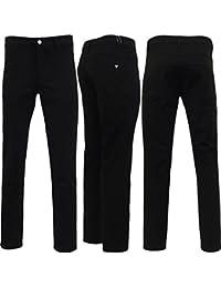 Voi Jeans Pantalon pour homme Coupe droite 'TRS023'Bi-Stretch Noir 30 32 34 36 38 40