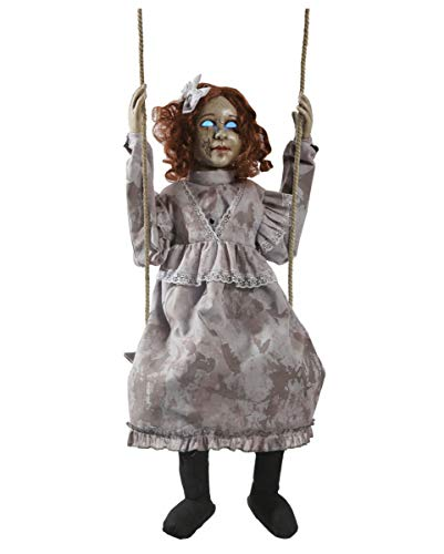 Horror-Shop Schaukelnde Creepy Doll Halloween Animatronic