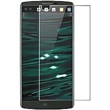 Protector de pantalla Cristal templado para LG V10 , Calidad HD, Grosor 0,3mm, Bordes redondeados 2,5D, alta resistencia a golpes 9H. No deja burbujas en la colocación (Incluye instrucciones y soporte en Español)