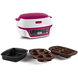 Tefal KD801811 Cake Factory Machine Intelligente à Gâteaux Appareil Cuisson Conviviale Pâtisserie Fondants Meringues Muffins 3 Moules Inclus 5 Programmes Automatiques