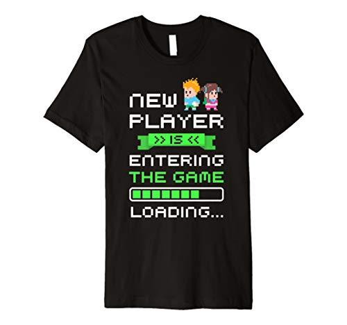 Gamer Pregnancy Announcement Shirt Funny Pregnancy Games Tee