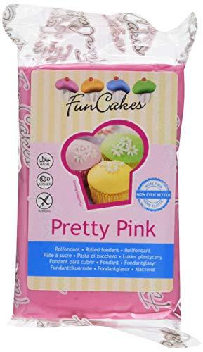 FunCakes Fondant -Pretty rosa,  1er Pack (250 g)