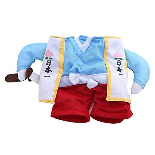 Kostüm Hunde Samurai - Vimbhzlvigour Samurai-Outfit für Hunde und Katzen, aufrecht