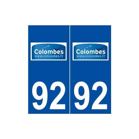 92Tauben Logo selbstklebend Platte Aufkleber Stadt (Taube Platte)
