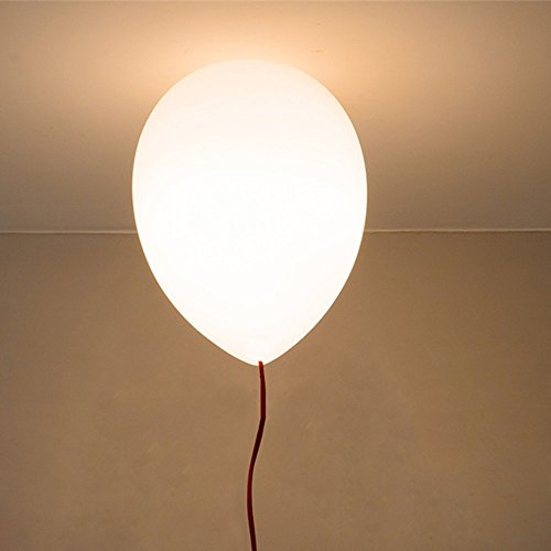 Moderne schatten kinder platz,Glas lampenschirm,party, bar, festival - Der Ballon deckenleuchte,1XE27,40W,5 farbe (gelb, Blau,weiß, orange, rot und grün)