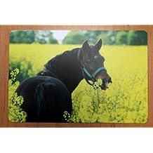 Schreibtischunterlage Pferd im Rapsfeld 40 x 60 cm abwischbar