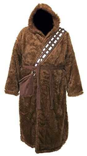Disney Star Wars Fleece-Bademantel, offizielles Lizenzprodukt, für Damen und Herren Gr. Groß Und Hoch, Chewbacca - Big and Tall