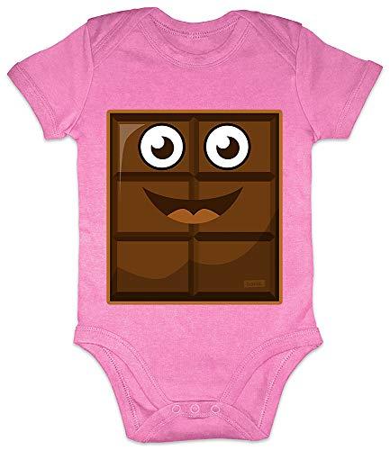 HARIZ Baby Body Kurzarm Milch Und Schokolade Junge Partner Kostüm Karneval Kostüm Plus Geschenkkarten Bubblegum Pink 0-3 Monate