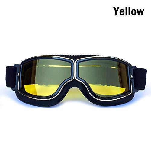 ZKAMUYLC SonnenbrilleVintage Motorrad Brille Harley Motocross Fliegerpilot Cruiser Brille ATV Dirt Bike Motor Helm 4 Farben