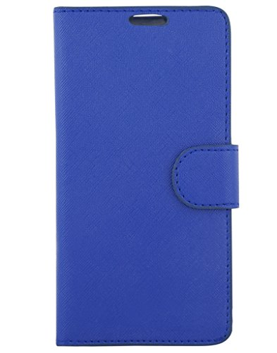 Colorcase Flip Cover Case for Micromax Canvas Spark 3 Q385 - Blue