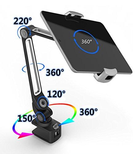 ZenCT Tablet Halterung,Desktop-Ständer Multi-Winkel Aluminium Tablet Halter für iPad Air Mini, Galaxy Tab, E-Reader 4