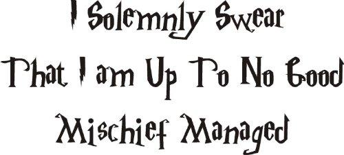 Citation de Harry Potter Malice pour enfant Sticker mural en vinyle Home DIY, Vinyle auto-adhésif, turquoise, 120 x 60 cm